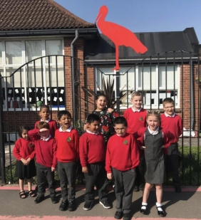 Gavin Rogers Stork Red Migrant Stork Robin Hood School